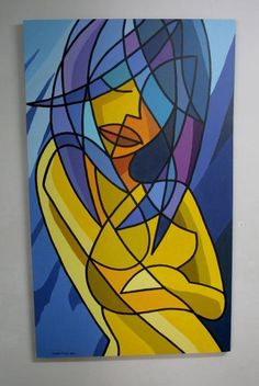 Na ducha. Luís Davila Action Painting, Cubist Art, Abstract Geometric Art, Modern Art Paintings, Abstract Portrait, Art Pictures, Creative Art, Art Drawings, Art Projects