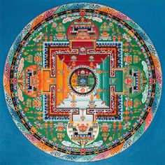 Mandala by Venerable Lobsang Tendar , a teacher of Sacred Tibetan Buddhist Art