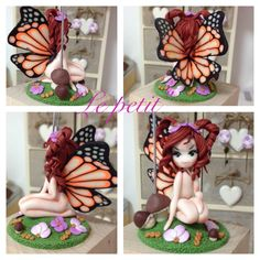 Butterfly fairy fimo