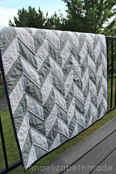 Anna Elizabeth Made: Herringbone Baby Quilt {Tutorial}