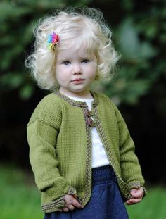 "Lisa Ellis Designs--Lisa Ellis--Peek A Boo Cardigan  ""what a darling child & sweater"""