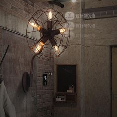 Find More Wall Lamps Information about  lamp European style living room bedroom Lamp Vintage American balcony stairs lamp wall lamp simple electric fan,High Quality Wall Lamps from Zhongshan Apollo Factory on Aliexpress.com