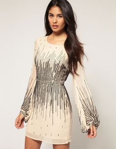 Asos Dress with Scattered Sequin - Lyst