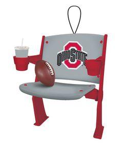 Look what I found on #zulily! Ohio State Buckeyes Stadium Chair Ornament #zulilyfinds