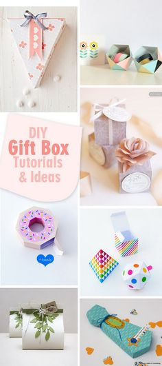 Lots of DIY Gift Box Tutorials and Ideas!