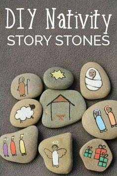 Storia della natività con i sassi