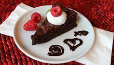 Fudgy Flourless Dark Chocolate Torte