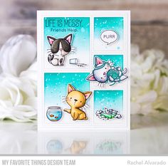 MFT Stamps | June Release Countdown – 5 Days To Go! Dog Cards, Yarn Ball, Mft Stamps, Marianne Design, Clear Stamps, Kittens Cutest, I Card, Cardmaking, Amigurumi