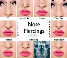 types of facial piercings - Google Search
