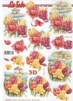 Feuille 3D fleurs : Feuilles 3D à découper tulipe jaune http://fournitures-loisirs.les-creatifs.com/feuilles-3d.php?refer=Tulipe-3D-jaune pour la décoration de tableau 3D.