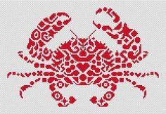 Crab Cross Stitch