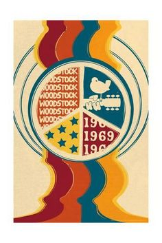 Specialty Music Collections Posters, Prints, Paintings & Wall Art for Sale Peace Poster, Poster S, Peace Sign Art, 60s Art, Retro Art, Woodstock Poster, 1969 Woodstock, Retro Kunst, Hippie Posters