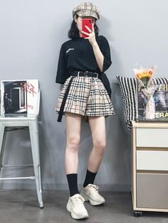 Look at this Awesome korean fashion trends Korean Girl Fashion, Korean Fashion Trends, Ulzzang Fashion, Korean Street Fashion, Korea Fashion, Asian Fashion, Korean Outfits, Kpop Outfits, Fashion Outfits