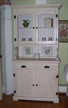 vintage farmhouse hutch - I want this
