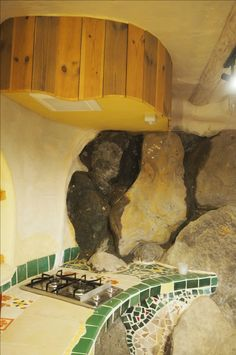 Japanese, design, art, in earth bag house, in Japan, kitchen, dogei