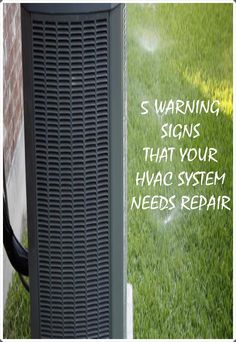 5 Warning Signs Your Heating and Cooling System Needs Repair Cooling System, Heating And Cooling, Hvac Air Conditioning, Hvac Maintenance, Hvac Repair, Water Damage, Warning Signs, Lawn Care, Clean House