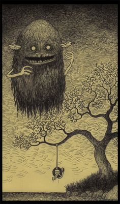 Monsters drawn on post-its! By John Kenn