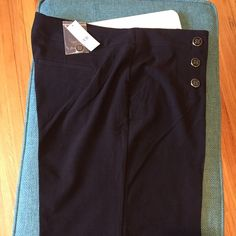Black wide leg high waisted sailor pants. Black wide leg high waisted sailor pants. New York & Company Pants Wide Leg