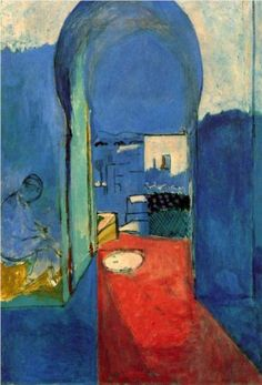 Henri Matisse, Entrance to the Kasbah, 1912   I just read Chasing Matisse... wonder if this is the Kasbah entrance he found from in his search.