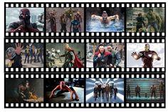 Marvel Movies Edible Icing Film Strip Precut Ready to Use Iron man Avengers Xmen