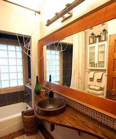 Gorgeous Small Bathroom Design with Penny Tiled Floor, DIY Bathroom Ideas. The sink is what caught my eye. Penny Tile Floors, Tile Floor Diy, Bathroom Floor Tiles, Downstairs Bathroom, Bathroom Renos, Bathroom Interior, Bathroom Ideas, Bathroom Shop, Shower Tiles