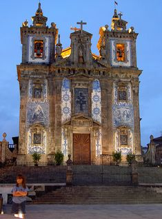 Tiled Church (Porto – Portugal) Tiled Church, Porto – Portugal – one of my favorite places in the whole world. Visited in May Porto Portugal, Visit Portugal, Spain And Portugal, Portugal Travel, Places Around The World, Around The Worlds, Cathedral Church, Old Churches, Place Of Worship