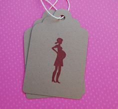 Mom to Be Hang Tag / Set of 10 by littlechicklets on Etsy, $5.75