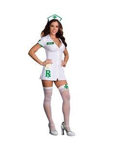 Sexy Medical Marijuana Nurse Costume