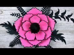 (3) FLOR GIGANTE DE PAPEL | FLORES DE PAPEL | MOLDES GRATIS | MANUALIDADES | GIANT PAPER FLOWER - YouTube