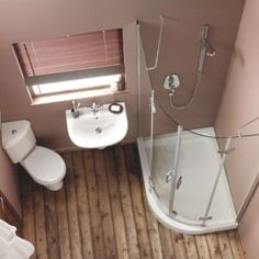 tiny bathroom - perfect for our size if we could cope without a bath