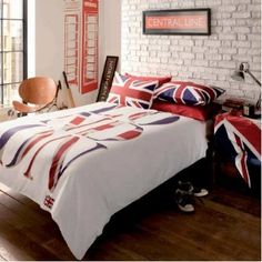 London Union Jack Reversible Duvet Cover Set Duvet Cover Set - Double: Amazon.co.uk: Kitchen & Home