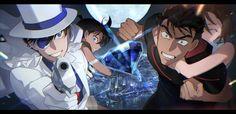 Detective Conan Shinichi, Kaito Kuroba, Gosho Aoyama, Kudo Shinichi, Arthur Conan Doyle, Magic Kaito, Anime People, Childhood Friends, Fujoshi