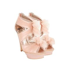 """Steve Madden - Pink Tulle Fifi Platforms - Above the gracefulness, romance, and delicacy of ballet, it was so easy for all of us little girls to swoon for dance lessons. We've come a long way from being ballerinas, but we can still look just as beautiful as they do in Steve Madden Pink Tulle """"Fifi"""" Platforms. Strapping into these extravagant shoes, life is our stage and we can't wait to get dancing! - Found at myWebRoom.com"""