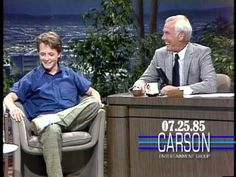 Michael J. Fox's First Appearance on Johnny Carson's Tonight Show- 1985 - YouTube. Oh my heavens, this is awesome - they really crack me up! I love both Michael J. Fox and Johnny Carson - it's 2 for 1!!! :-)
