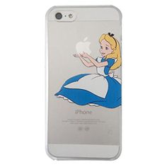 Disney's Alice in Wonderland Holding Logo Clear Transparent Case For Apple Iphone 6
