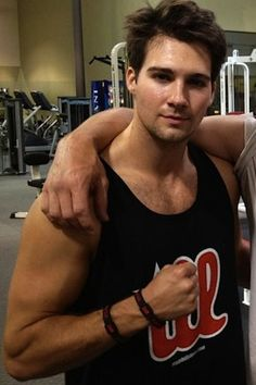 James Maslow post-workout.