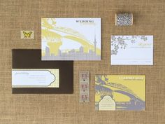 New Zealand Waterfront Wedding Invitations {via Oh So Beautiful Paper}