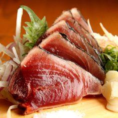 かつお。Bonito sashimi.