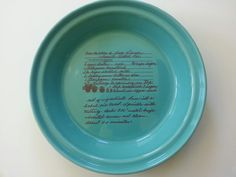 Your Recipe on a Deep Dish Pie Plate Every family has a great pie recipe; & Fiestaware Fiesta Advertising 12\