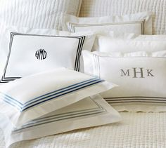 Grand Embroidered 280-Thread-Count Boudoir Pillow Cover | Pottery Barn