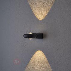Aluminium led-wandlamp Samia 9618005