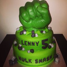 Lenny's 5th Birthday - Incredible Hulk Cake