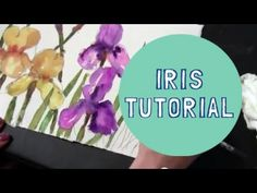 ▶ Watercolor Demonstration | How to paint Purple and Yellow Iris Flowers - YouTube