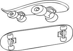 Dibujos Para Colorear De Skate - AZ Dibujos para colorear
