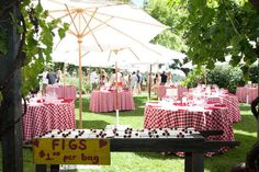 Photography by www.juliemikos.com Love the picnic decor...so many things you can do with this theme.