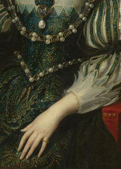 Regilla ⚜ Anne of Austria, Wife of Louis XIII (detail), workshop of Peter Paul Rubens, 1625–26