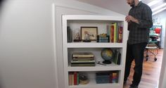 Learn how to make a secret door/bookcase, activated by a book!