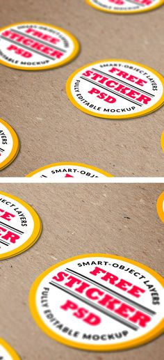 FREE Stickers PSD MockUp is an ideal for showcasing your sticker design in a very realistic environment. Take a look at this great mockup so you can instantly download with just a click!