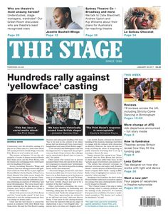 The Stage | January 26 2017 - Hundreds rally against 'yellowface' casting.