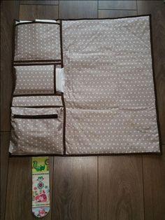 Nastja de DIY Eule a réalisé un tutoriel de couture très pratique pour tous les jeunes parents : un sac à langer avec un matelas à langer intégré et trois compartiments de rangement. C'est également un superbe cadeau à offrir pour une naissance.